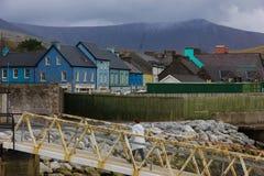 Kleurrijke gebouwen dingle ierland royalty-vrije stock fotografie