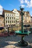 Kleurrijke gebouwen gent belgië royalty-vrije stock fotografie