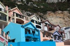 Kleurrijke gebouwen in Gibraltar Royalty-vrije Stock Foto's