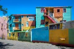 Kleurrijke gebouwen van Caminito-straat in de buurt van La Boca - Buenos aires, Argentinië royalty-vrije stock fotografie
