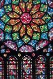 Kleurrijke gebrandschilderd glastextuur Stock Afbeelding