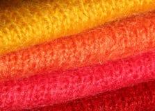 Kleurrijke gebreide textiel Royalty-vrije Stock Foto's