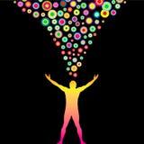 Kleurrijke Gedachten stock illustratie