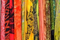 Kleurrijke, Gedetailleerde Stoffen Hoge Resolutie Royalty-vrije Stock Fotografie