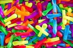 Kleurrijke Gelaten leeglopen Waterballons voor de Zomerpret Stock Foto's