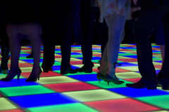 Kleurrijke geleide dansvloer Stock Foto