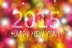 Kleurrijke Gelukkige Nieuwjaar Abstracte Achtergrond Royalty-vrije Stock Fotografie