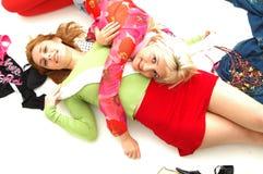 Kleurrijke gelukkige tieners 6 royalty-vrije stock afbeeldingen