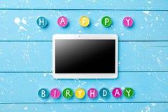 Kleurrijke Gelukkige Verjaardagsachtergrond Royalty-vrije Stock Fotografie