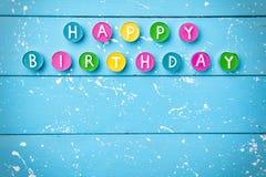 Kleurrijke Gelukkige Verjaardagsachtergrond Stock Afbeelding