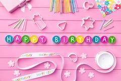 Kleurrijke Gelukkige Verjaardagsachtergrond Royalty-vrije Stock Foto