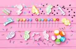 Kleurrijke Gelukkige Verjaardagsachtergrond Royalty-vrije Stock Afbeelding