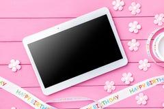 Kleurrijke Gelukkige Verjaardagsachtergrond Stock Foto's