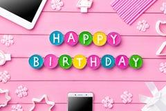 Kleurrijke Gelukkige Verjaardagsachtergrond Royalty-vrije Stock Afbeeldingen