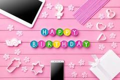 Kleurrijke Gelukkige Verjaardagsachtergrond Stock Foto