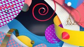 Kleurrijke geometrische achtergrond royalty-vrije illustratie