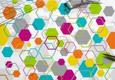 Kleurrijke geometrische achtergrond Stock Fotografie