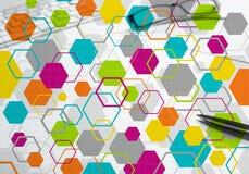 Kleurrijke geometrische achtergrond Royalty-vrije Stock Afbeelding