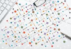 Kleurrijke geometrische achtergrond Stock Afbeelding