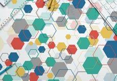 Kleurrijke geometrische achtergrond Stock Foto's