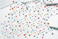 Kleurrijke geometrische achtergrond Royalty-vrije Stock Afbeeldingen