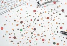 Kleurrijke geometrische achtergrond Royalty-vrije Stock Foto