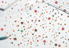 Kleurrijke geometrische achtergrond Stock Foto