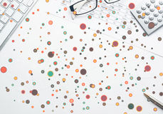Kleurrijke geometrische achtergrond Royalty-vrije Stock Fotografie