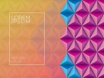 Kleurrijke geometrische achtergrond Abstract textuurmalplaatje voor vector illustratie