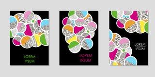 Kleurrijke geometrische achtergronden Malplaatjes voor dekking, kaart, banner, affiche vector illustratie
