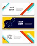 Kleurrijke geometrische banner Vloeibare vormensamenstelling Modern vectormalplaatje vector illustratie