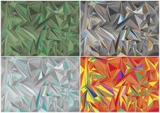 Kleurrijke Geometrische driehoeksachtergrond Stock Foto's