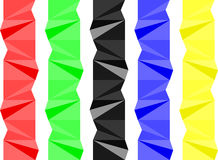 Kleurrijke geometrische separator Stock Afbeeldingen