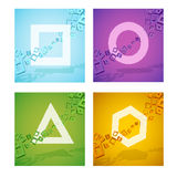 Kleurrijke geometrische vormen Stock Foto