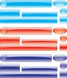 Kleurrijke geperforeerde knoopreeks Stock Afbeeldingen