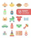Kleurrijke Geplaatste Babypictogrammen royalty-vrije illustratie