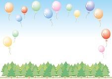 Kleurrijke geplaatste ballons - de Vectorillustratie plaatste vele kleuren stock illustratie