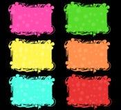 Kleurrijke geplaatste banners Stock Foto