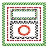 Kleurrijke geplaatste frames Royalty-vrije Stock Afbeeldingen
