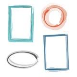 Kleurrijke geplaatste frames Stock Foto