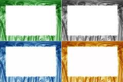 Kleurrijke geplaatste grenzen en kaders Stock Afbeelding