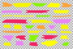 Kleurrijke geplaatste highlighters stock illustratie