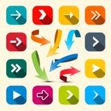 Kleurrijke Geplaatste Pijlen Vectorpijlpictogram vector illustratie
