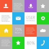 Kleurrijke geregelde infographic Royalty-vrije Stock Foto