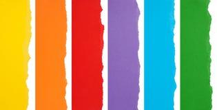 Kleurrijke gescheurde grenzen Stock Afbeeldingen