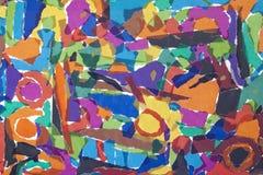 Kleurrijke gescheurde het document van Grunge achtergrond Stock Afbeelding