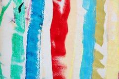 Kleurrijke geschilderde borstelslagen Royalty-vrije Stock Foto's