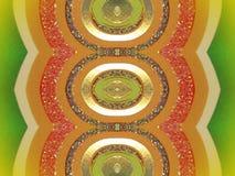 Kleurrijke geschilderde document samenvatting stock illustratie
