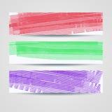 Kleurrijke geschilderde geplaatste kopballen Royalty-vrije Stock Afbeelding