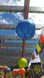 Kleurrijke geschilderde lantaarns Royalty-vrije Stock Foto's